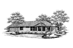 Ranch House Plan Front of Home - 085D-0659 | House Plans and More