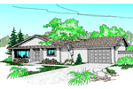 Sunbelt Style Ranch House With Stucco Siding