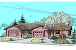 Ranch Style Duplex Wih One-Car Garages