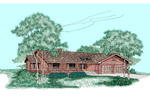 Rustic Style Country Ranch Home With Wide Porch