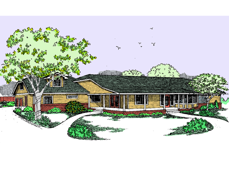 Acadian Inspired Ranch With Wide Covered Porch