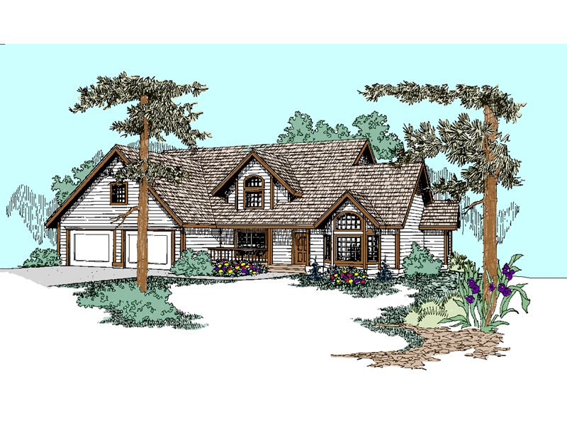 Quaint Country Home With Sizable Roof Dormer