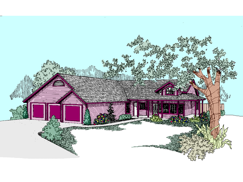 Laurelwood Country Ranch Home Plan 085d 0745 House Plans