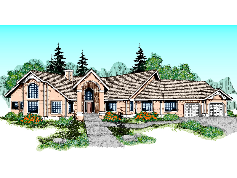 Country French House Plan Front of Home - 085D-0759 | House Plans and More