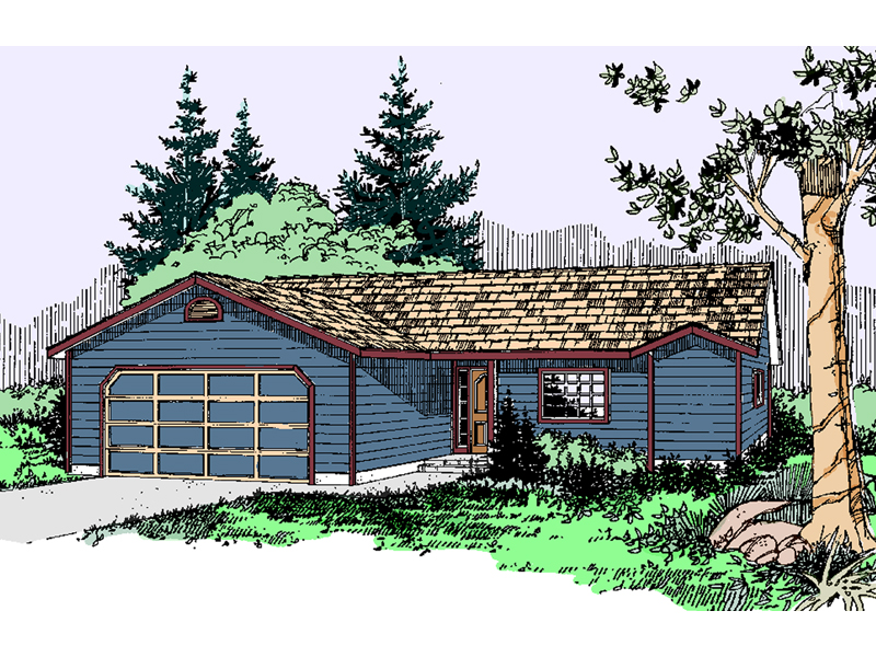 Ranch House Plan Front of Home - 085D-0780 | House Plans and More