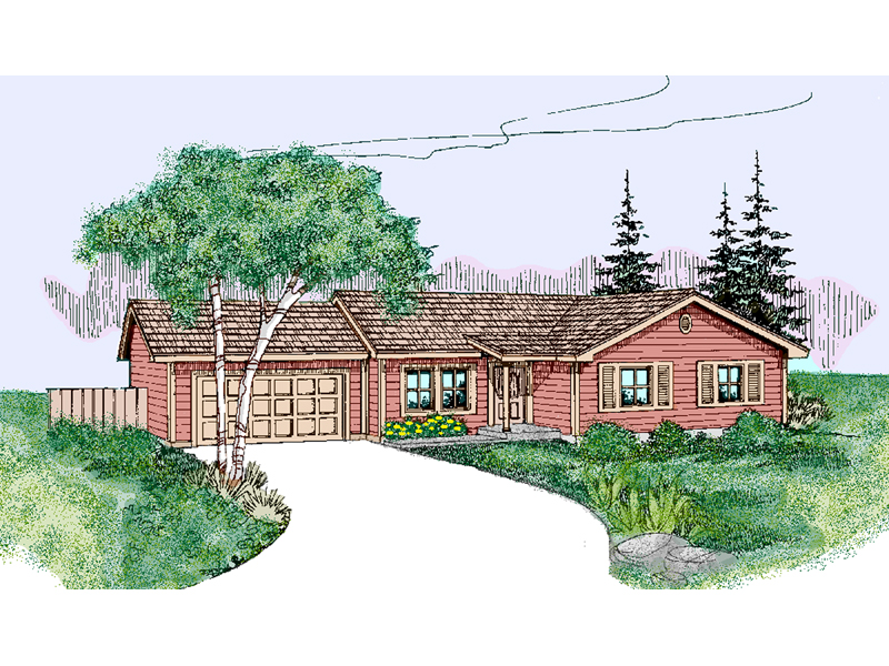 Ranch House Plan Front of Home - 085D-0793 | House Plans and More