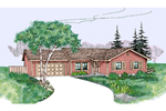 Traditional House Plan Front of Home - 085D-0793 | House Plans and More