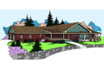 Ranch House Plan Front of Home - 085D-0794 | House Plans and More