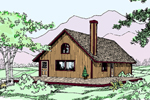 Cabin and Cottage Plan Front of Home - 085D-0795 | House Plans and More