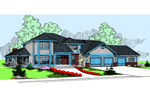 Contemporary House Plan Front of Home - 085D-0797 | House Plans and More