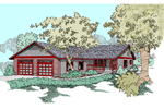 Ranch House Plan Front of Home - 085D-0799 | House Plans and More