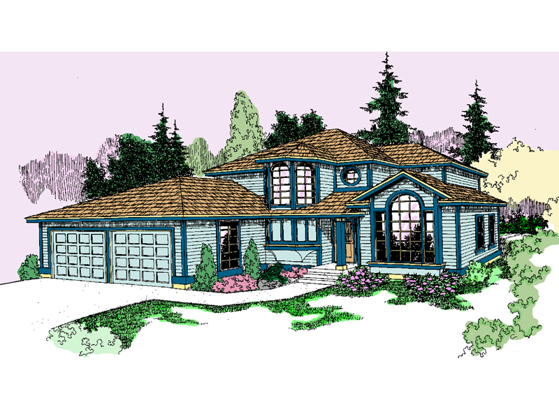 Contemporary House Plan Front of Home - 085D-0805 | House Plans and More