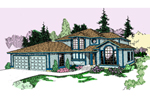 Modern House Plan Front of Home - 085D-0805 | House Plans and More
