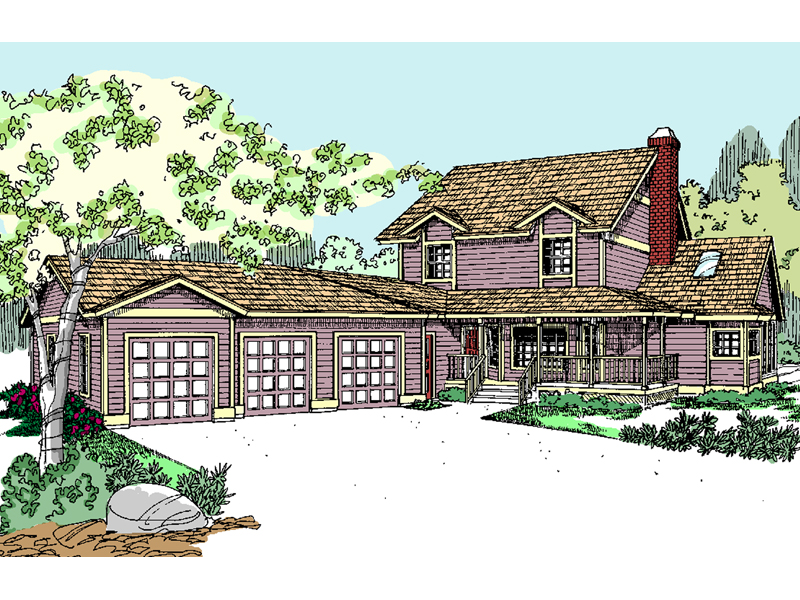 Country House Plan Front of Home - 085D-0808 | House Plans and More