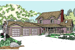 Farmhouse Plan Front of Home - 085D-0808 | House Plans and More