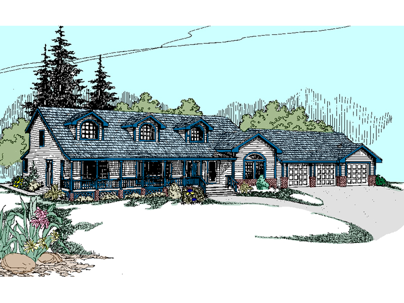 Country House Plan Front of Home - 085D-0812 | House Plans and More