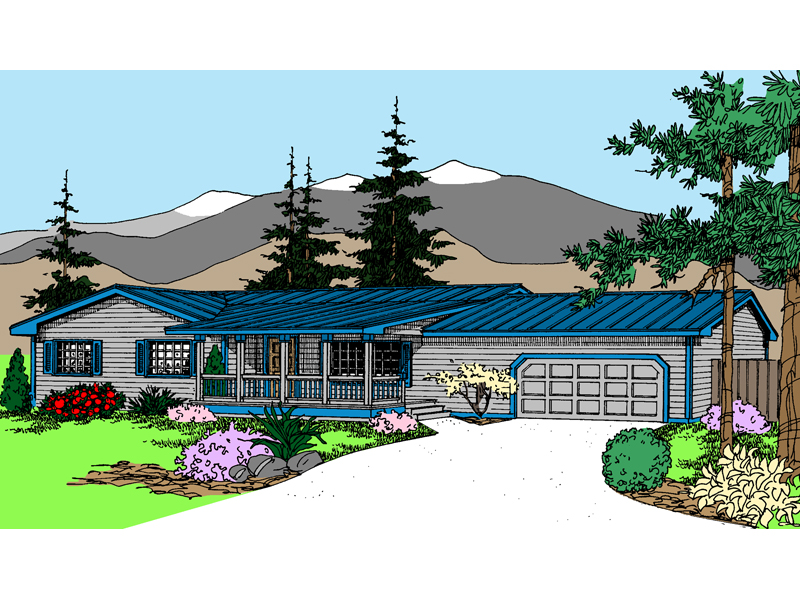 Ranch House Plan Front of Home - 085D-0813 | House Plans and More