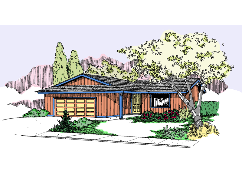 Ranch House Plan Front of Home - 085D-0814 | House Plans and More