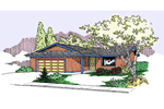Country House Plan Front of Home - 085D-0814 | House Plans and More