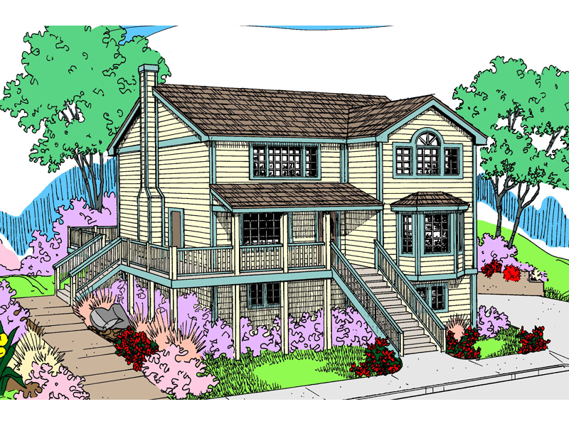 Lake House Plan Front of Home - 085D-0815 | House Plans and More