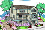 Vacation Home Plan Front of Home - 085D-0815 | House Plans and More