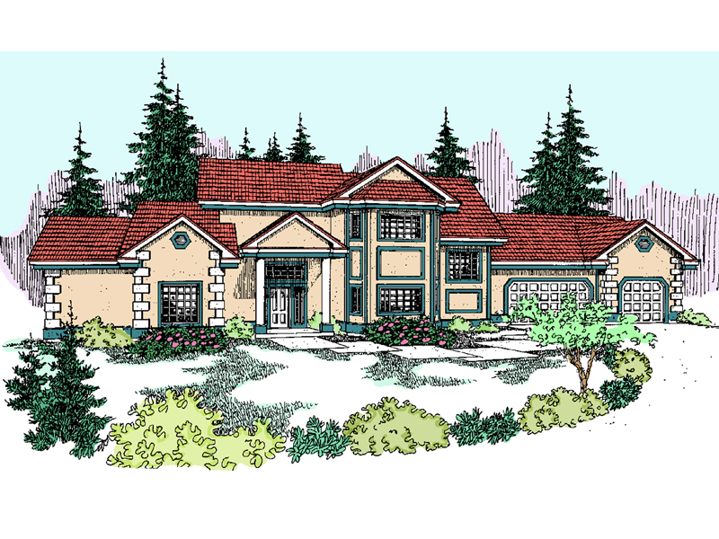Mountain Home Plan Front of Home - 085D-0816 | House Plans and More