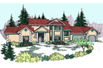 European House Plan Front of Home - 085D-0816 | House Plans and More
