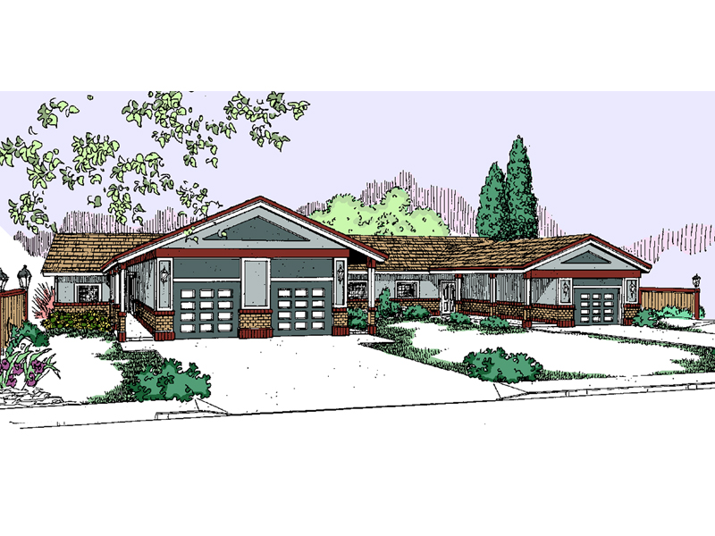 Multi-Family House Plan Front of Home - 085D-0817 | House Plans and More