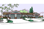 Ranch House Plan Front of Home - 085D-0817 | House Plans and More