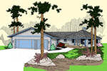 Contemporary House Plan Front of Home - 085D-0818 | House Plans and More