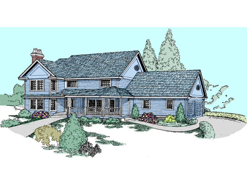 Country House Plan Front of Home - 085D-0819 | House Plans and More