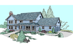 Farmhouse Plan Front of Home - 085D-0819 | House Plans and More