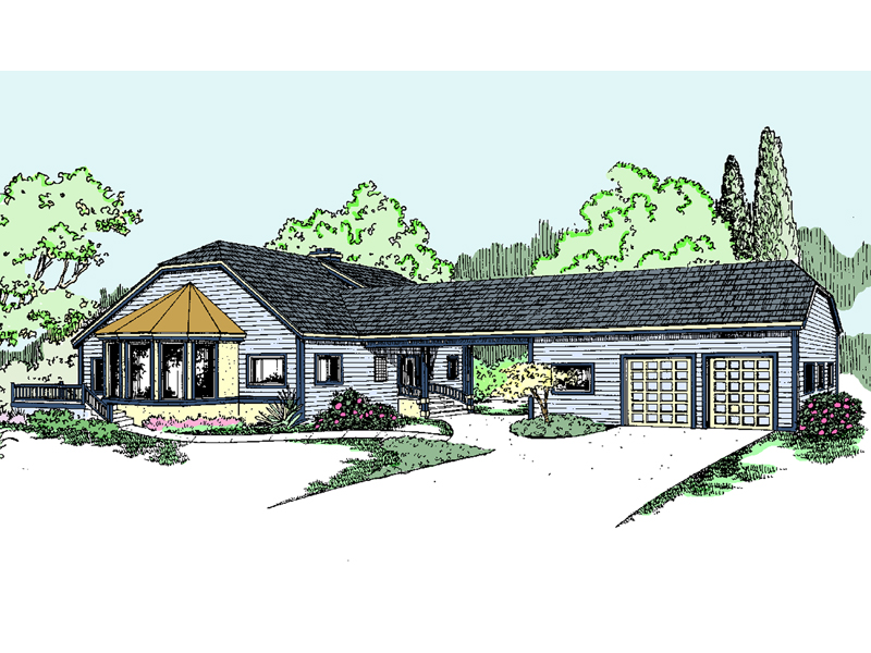 Country House Plan Front of Home - 085D-0820 | House Plans and More