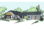 Contemporary House Plan Front of Home - 085D-0820 | House Plans and More