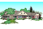 Country House Plan Front of Home - 085D-0821 | House Plans and More
