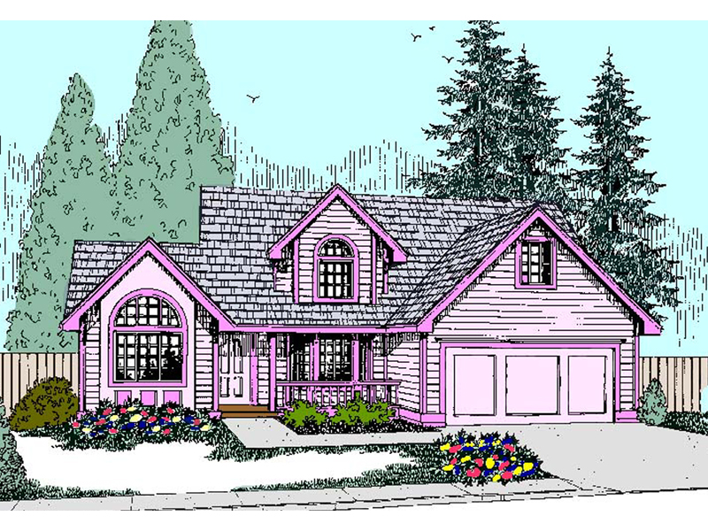 Bungalow House Plan Front of Home - 085D-0822 | House Plans and More