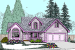 Contemporary House Plan Front of Home - 085D-0822 | House Plans and More