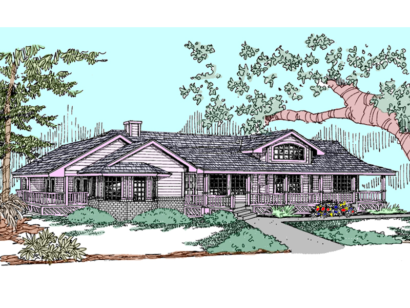 Ranch House Plan Front of Home - 085D-0824 | House Plans and More