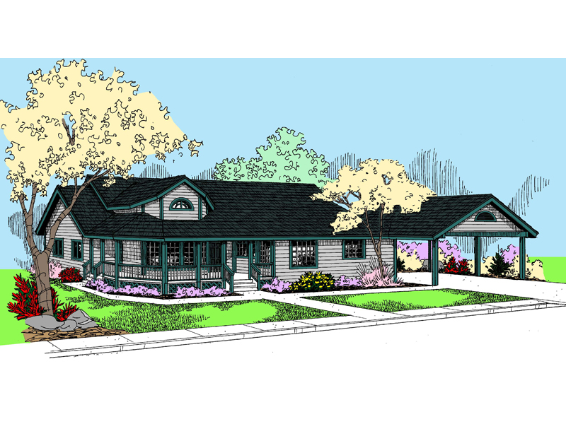 Bungalow House Plan Front of Home - 085D-0825 | House Plans and More
