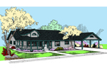 Ranch House Plan Front of Home - 085D-0825 | House Plans and More