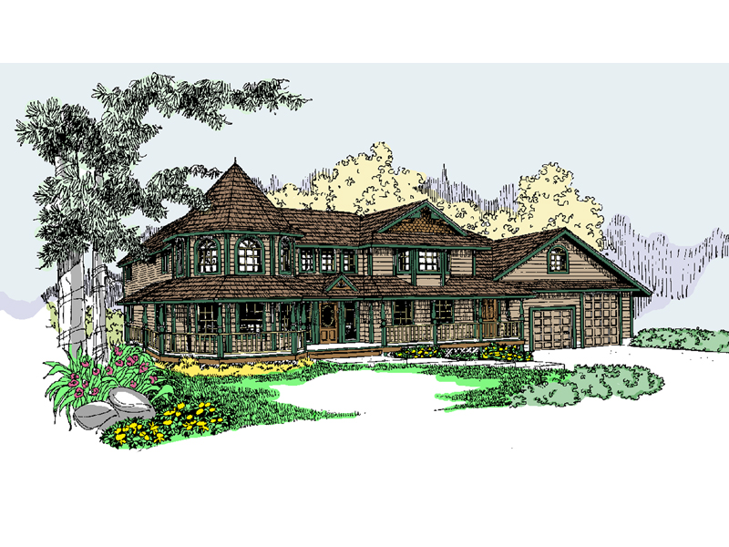 Victorian House Plan Front of Home - 085D-0826 | House Plans and More