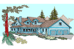 Traditional House Plan Front of Home - 085D-0827 | House Plans and More