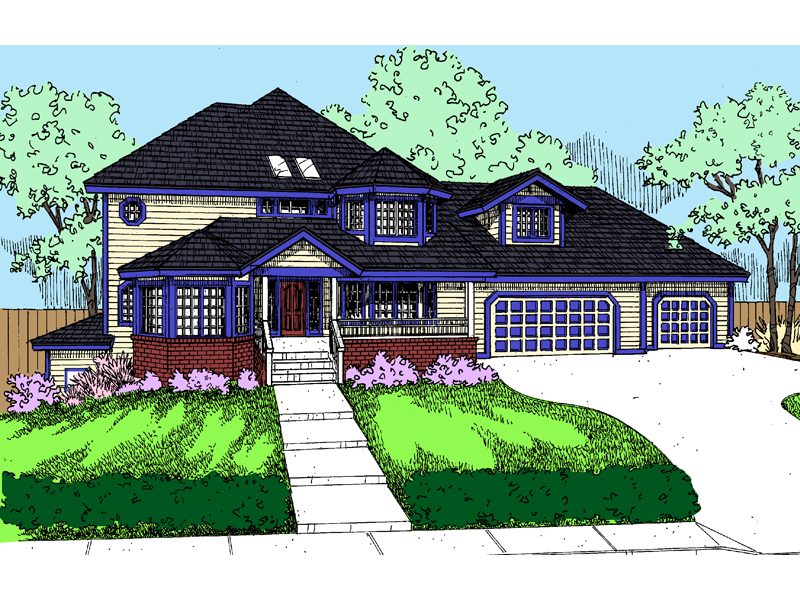 Traditional House Plan Front of Home - 085D-0830 | House Plans and More
