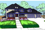Lowcountry Home Plan Front of Home - 085D-0830 | House Plans and More