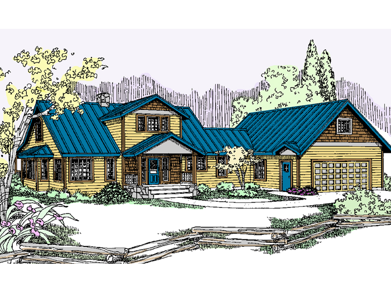 Country House Plan Front of Home - 085D-0831 | House Plans and More