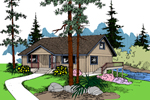 Waterfront Home Plan Front of Home - 085D-0832 | House Plans and More