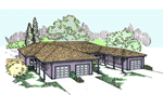 Ranch House Plan Front of Home - 085D-0833 | House Plans and More