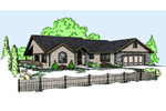 Mountain Home Plan Front of Home - 085D-0835 | House Plans and More