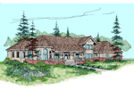 Farmhouse Plan Front of Home - 085D-0837 | House Plans and More