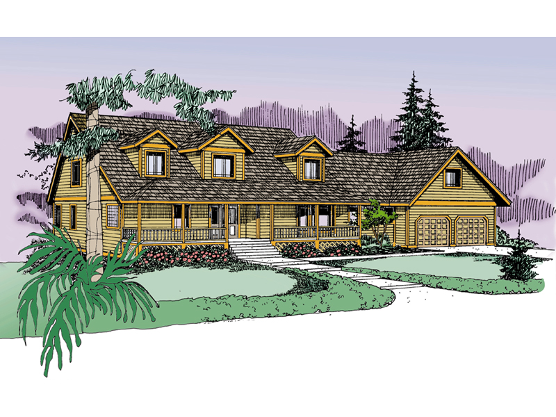 Farmhouse Plan Front of Home - 085D-0838 | House Plans and More